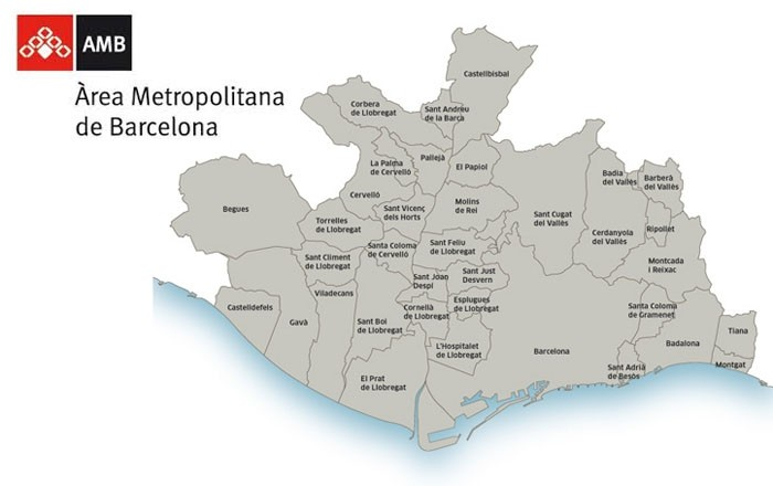municipios del área metropolitana de Barcelona